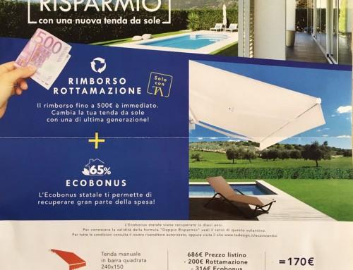 """Formula """"Doppio Risparmio"""" con una nuova tenda da sole"""